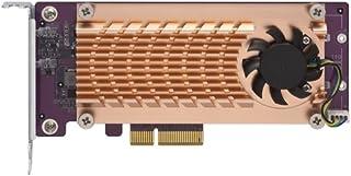 Qnap 双 M.2 22110/2280 SATA SSD 扩展卡(PCIe Gen2 X 2),半高支架预安装,低调平和全高捆绑 PCIe Gen2x4, M.2?PCIe?SSD X 2