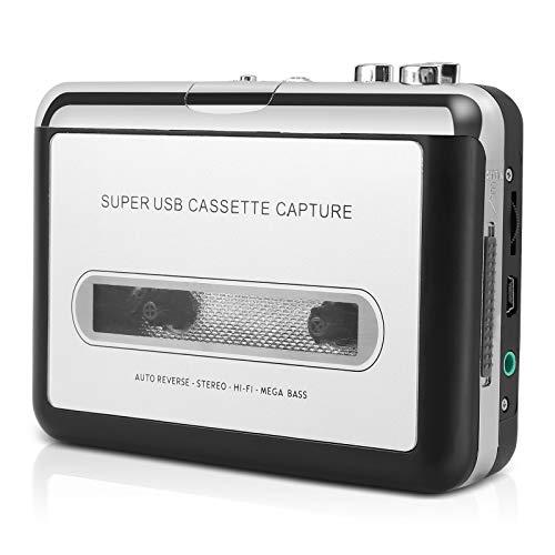 Reshow Kassettenspieler- Tragbar Kassettenspieler Aufnahme MP3-Audio Musik über USB- Kompatibel mit Laptops und PCs- Walkman Bandkassetten in iPod Formatkonvertieren