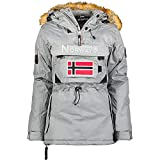 Geographical Norway - Parka para Mujer (Gris, S)