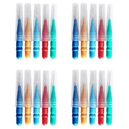 EXCEART 50 Unidades de Escova Interdental Com Fio Dental Escolhe Ferramenta de Limpeza de Dente Ferramenta de Limpeza de Dente para Remoção de Placa