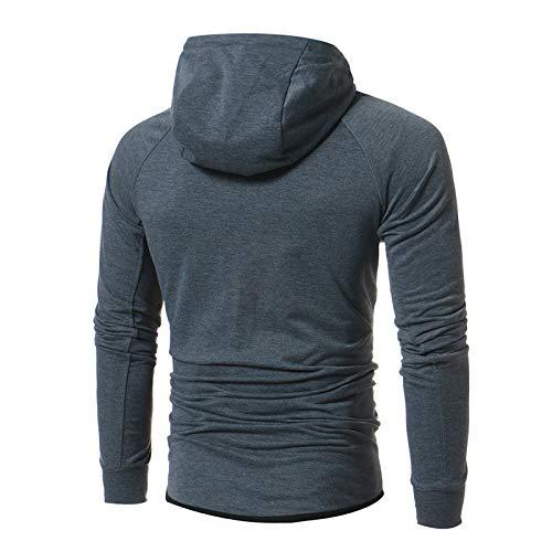 BAGFP Sweatshirt Herren Slim Casual Zip Cardigan Sweater Persönlichkeit Jacke Multi-Größe Komfortabel