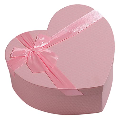 Cajas de regalo, Cajas de regalo pequeñas en forma de corazón, Caja de regalo de embalaje de floristería, Cajas de regalo de lazo de cinta de fiesta con tapas, Caja de regalo de cumpleaños Boda
