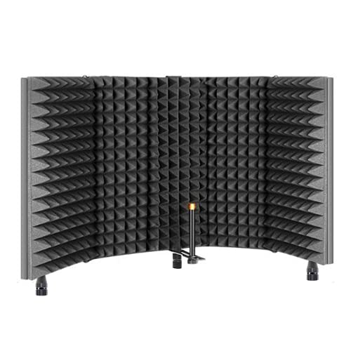 TRUE NORTH Microphone Isolation Shield w/Desk Feet and Stand Mount -...