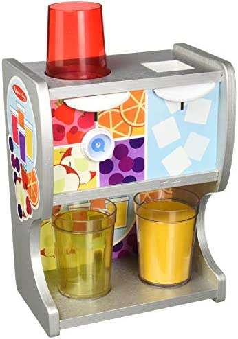 Melissa Doug 19300 Wooden Drink Cups Juice Inserts Ice Cubes 10 Pcs Thirst Quencher Dispenser product image