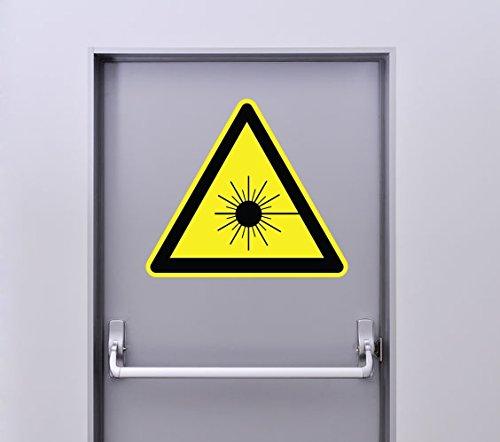 Zone-Stickers Autocollant Signalétique Panneau Danger Laser rayonnant - 25cm x 22cm