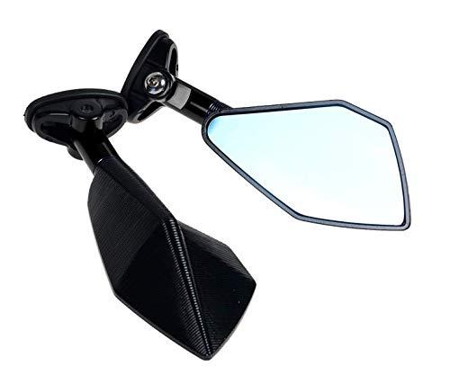 Wooya Accessoires De Moto Horizon De Voiture De Sport Miroir De Moto Miroir Miroir CNC Anti-Reflet Oculaire-Noir