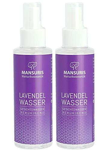 Bio Lavendelwasser 100% 2er Set - Gesichtwasser Spray für Gesicht, Haut & Haare - Naturkosmetik Lavendel Haarwasser - Für natürliche Pflege gegen unreine, trockene Haut & glanzloses Haar, 2 x 125 ml