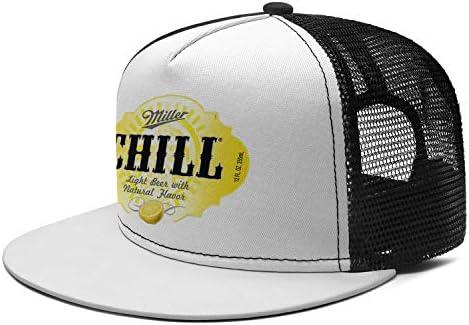 ZLJUN Snapback Flat Bill Brim Fashion Mesh Baseball Cap Hip Hop Caps Novelty Sport Fishing Hats Adjustable