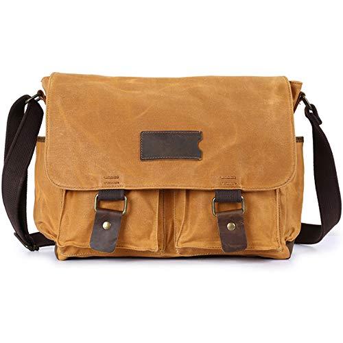 TSSM Mens Echt Lederen Messenger Bag Waterdichte Handgemaakte Vintage Zakelijke Satchel Schoudertassen Gek Paard Lederen Herentas voor School Werk Pakket
