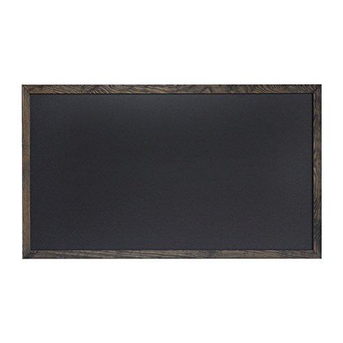 Kreidetafel schwarz 100 x 55 cm mit Rahmen aus Holz