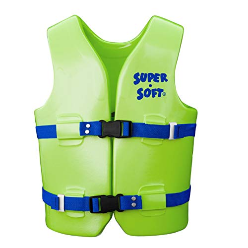 TRC Recreation Super Soft USCG Youth Medium Swim Vest, Kool Lime Green