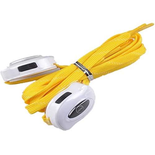 USB Que Carga El Cordón De Nylon Led Que Enciende La Cuerda del Zapato,Amarillo