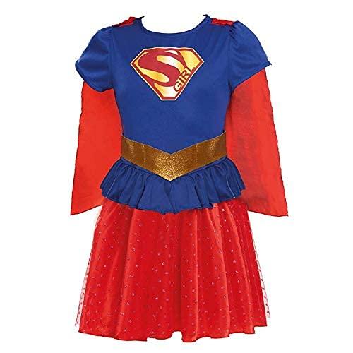 Disfraz Heroína Super Girl Niña Disfraz Superhéroe Niña (Talla 5-6 años) (+ Tallas)