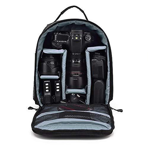 Mochila Fotográfica Impermeável p/Câmeras DSLR e Mirrorless - Cinza