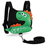 Accmor Toddler Harness Leashes, Cute Dinosaur Anti-Lost Harness Leash, Child Kid Walking Assistant Strap Belt for 1-5 Years Boys to Zoo or Mall