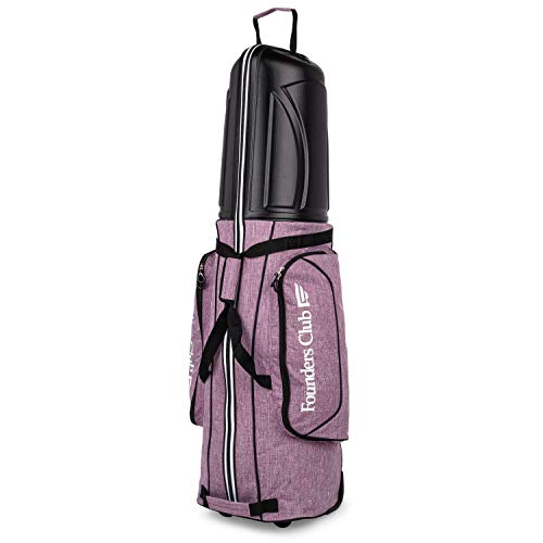 Founders Club Golf Travel Cover Luggage for Golf Clubs with ABS Hard Shell Top Travel Bag (Lavender)