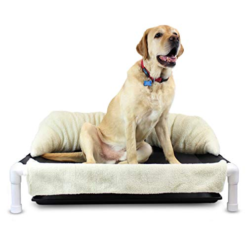 Walkin' Wheels Elevated Dog Bed for Incontinent Pets | Rinsable Orthopedic Dog Bed | Soft, Washable Dog Pillow | Easy Assembly | Available in 2 Sizes to Fit Most Pets | SleePee Time Bed