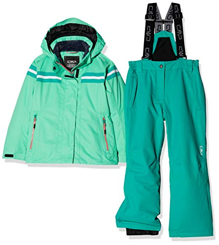 CMP Feel Warm Flat 5.000 39W1995, Set Giacca e Pantaloni Bambina, Aquamint, 116