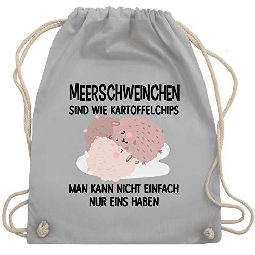 Shirtracer Statement - Lustiges Meerschweinchen Motiv - Unisize - Hellgrau - Haustier - WM110 - Turnbeutel und Stoffbeutel aus Baumwolle