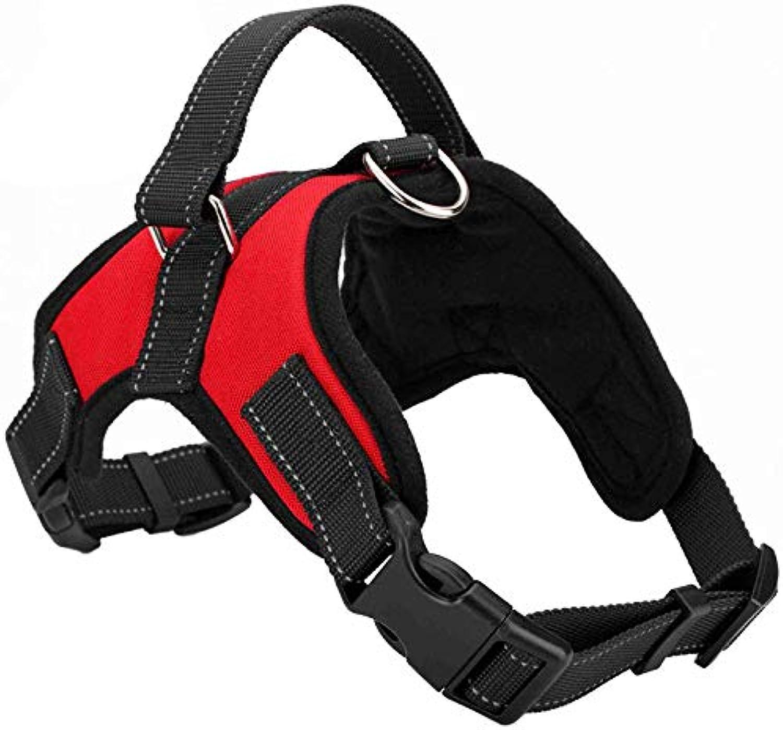 GWM Leashes Dog Chest Strap, Pet Harness, Dog Vest, Pet Leash Chest Strap, Pet Supplies (color   Red, Size   L)