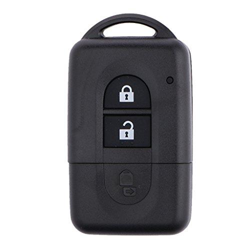 Générique 2 Bouton Case FOB Clé à Distance Télécommande Remplacement pour Nissan Micra Qashqai Juke Duke