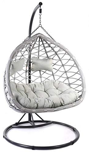 Wiszące Krzesło dwuosobowe Kosz Wiszący Wiszące Krzesło Bujak Kokon ogrodowy dwuosobowy CABANA