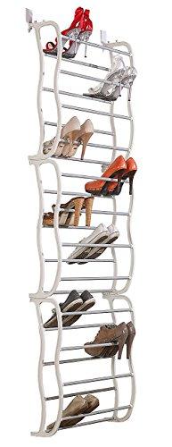 infactory Schuhschrank: Schuhregal für die Tür, Platz für 36 Paar Schuhe (Schuhaufbewahrung)