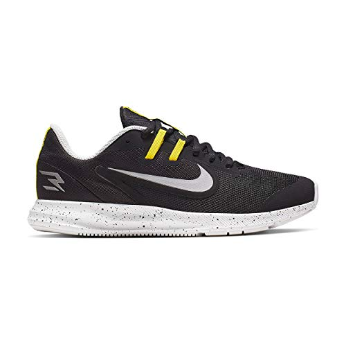 Nike Downshifter 9 Running Shoe - Kids' (5, Black/Yellow),Medium