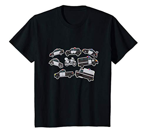 Niños Coche De Policía I Kids Boys Girls Child Cumpleaños Camiseta
