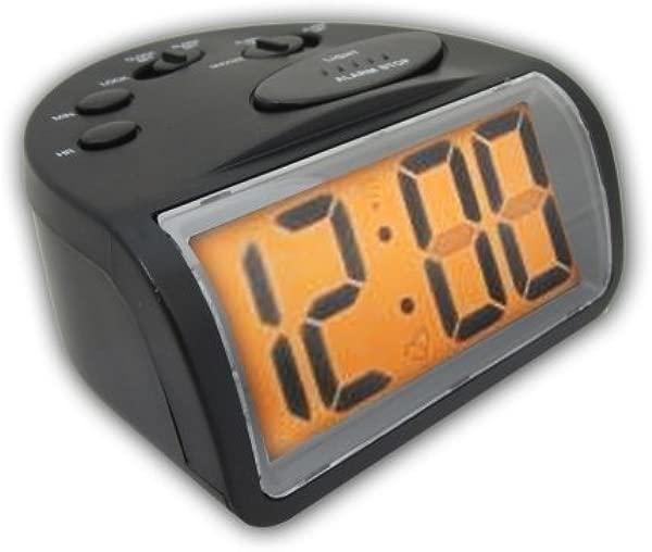 RadioShack 大数字闹钟背光小睡黑色 630 0245