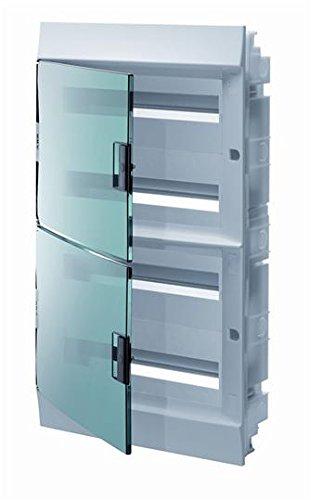 Abb-entrelec mistral41f inbouwdoos mistral41 series 850 72 modules 4 rijen deur transparant