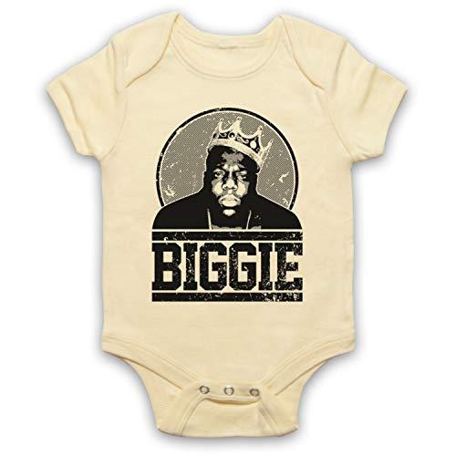 The Guns Of Brixton Notorious BIG Biggie Tribute Bébé Barboteuse Bodys, Jaune Clair, 3-6 Mois