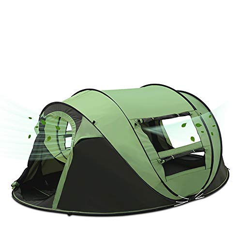 THZCMY Pop Up Tent voor 3 tot 4 Persoon Automatische Tent Eenvoudig in te stellen 100% UV Waterdichte Luifel voor Camping Familie Feesten