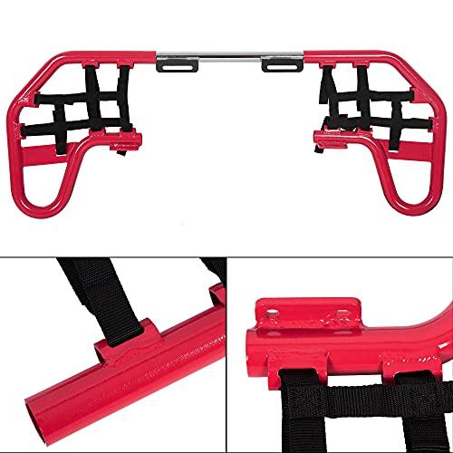 Aluminum Nerf Bars Red w/Black Nets Fits Honda TRX...