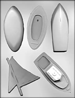 CK Products 3-D Sail Boat and 3-D Motor Boat Chocolate Mold