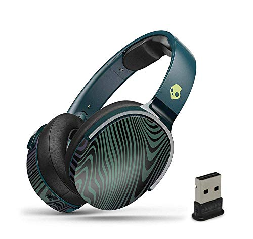 Skullcandy HESH 3 Noise-Isolating Over-Ear Wireless Bluetooth Headphone Bundle with Plugable USB 2.0 Bluetooth Adapter - Psycho Tropical