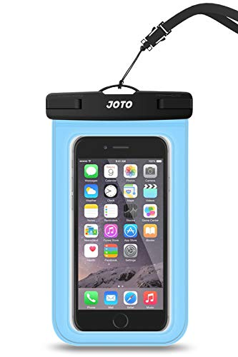JOTO Universal Waterproof Pouch Cellphone Dry Bag Case for iPhone 12 Pro Max 11 Pro Max Xs Max XR X 8 7 6S Plus SE, Galaxy S20 Ultra S20+ S10 Plus S10e /Note 10+ 9, Pixel 4 XL up to 6.9' -Blue