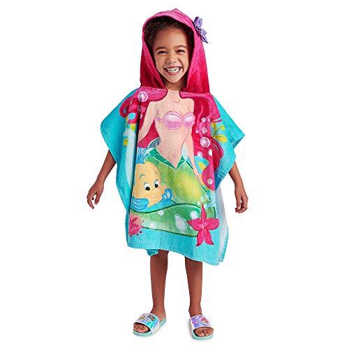 DS Disney Store - Toalla de playa para niños y niñas con capucha Ariel Princesa La Sirenita original