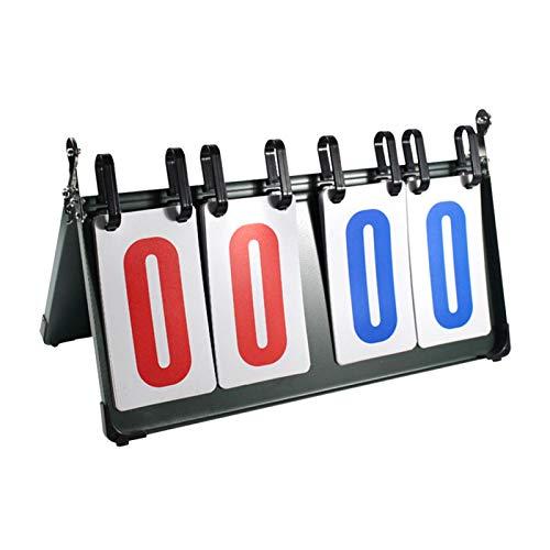 POHOVE Anzeigetafel/Punktezähler/Punktezähler/Punktezähler, tragbar, 4 digitale Punkteanzeigen, für Sport, Volleyball, Basketball, Tischtennis