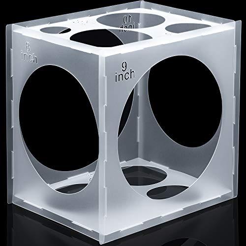 11 Agujeros de Caja de Cubos de Plástico Plegable Herramienta de Medición de Globos para Decoraciones de Globos de Fiesta Bodas Cumpleaños, 2-10 Pulgadas (1 Pieza)