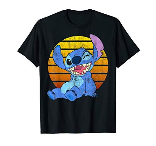 Disney Lilo & Stitch Good Times Only Paint Splatter Portrait T-Shirt