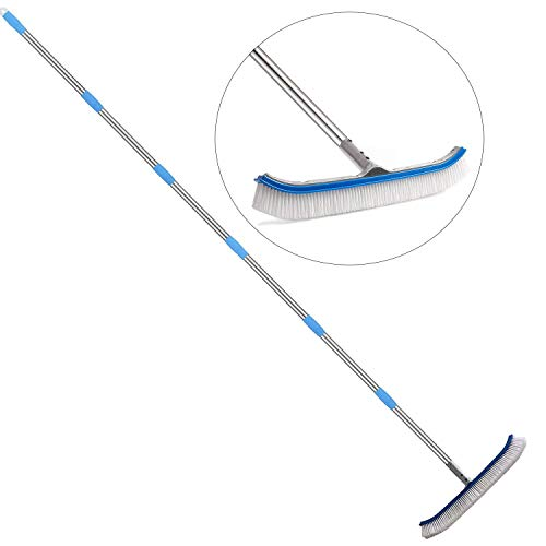 diig Swimming Pool Brush, 10FT Stainless Steel Heavy Duty Clean Swimming Pool Brush with Pole, Use for Swimming Pool Wall Tile Floor and Step