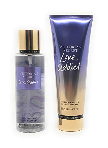 Set Victoria's Secret Love Addict Body Mist 250 ML + Crema 236 ML