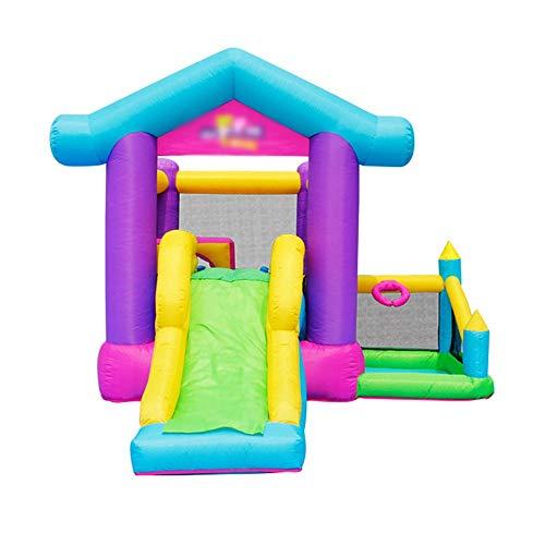 YM963 Castillo Hinchable con el Ventilador, PVC Paño casa de la Despedida tobogán for niños y Adultos (370 * 305 * 250 cm) Aire Libre y Deportes