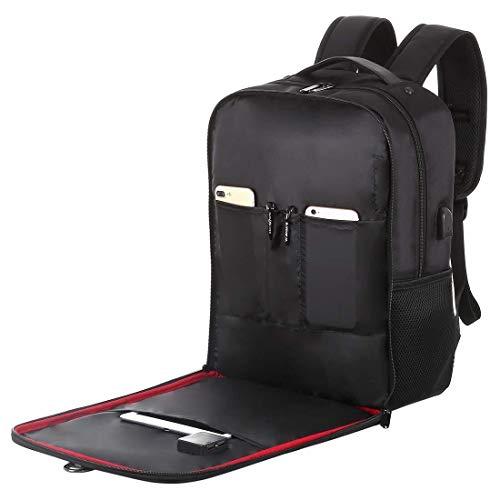 DC Wesley Warm Home Pratica Borsa for Laptop con Zaino da 14W con Pannello Solare con Maniglia E Doppia Porta di Ricarica USB