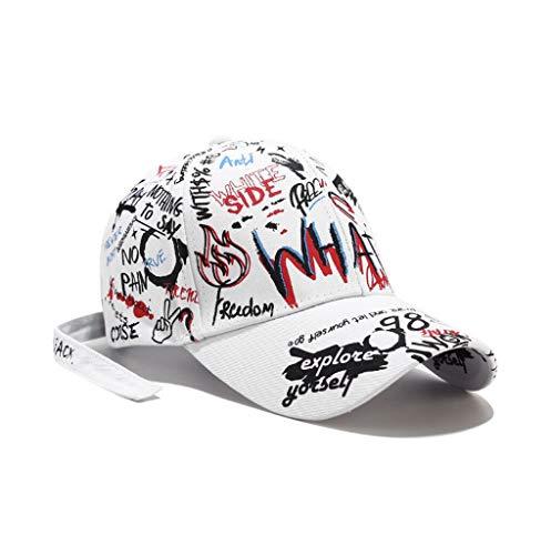 XibeiTrade - Gorra de béisbol de estilo Hiphop Street - Blanco - Medium