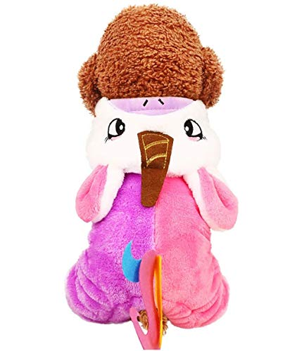 HAMISS Haustier-Kapuzenpullover mit Einhorn, für kleine Hunde, Katzen, Welpen, Cartoon, Dicker Mantel Outfits Mops Kostüm Cosplay Jumpsuit Winter, Large