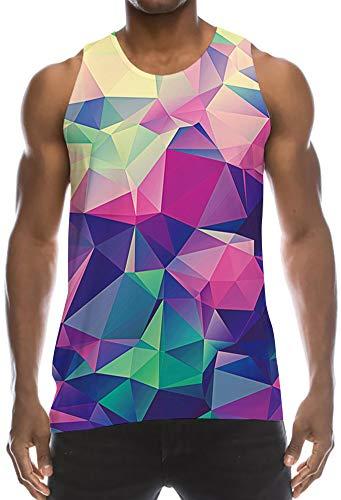 Boys Hilarious Muscle Tank Top Summer Compression Sleeveless Undershirt Navy Blue Pink Green Geometry Triangle Designer Stringer Vest Funniest Athletic Sports Crisp Juniors Tees Singlet Shirt