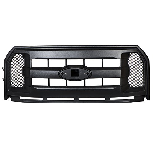 2015-2016 Ford F-150 Molded Carbon Black Grille Radiator Grill OEM FL3Z-8200-AA