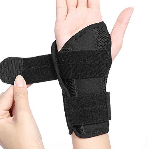 Handgelenkstütze Handgelenkbandage für Tendinitis, Handgelenkschiene für Fitness, Handgelenk Bandagen mit Abnehmbarem Schienenstabilisator für Lindert Handgelenkschmerz(Rechts)
